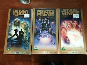 Star Wars Sp Edt. 3 VHS Tapes - Return of the Jedi, Emp. Strikes Bk, Star Wars