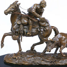 Sculpture Bronze Cheval luge en Ancien-Style Bronze Figurine Statue 25 cm