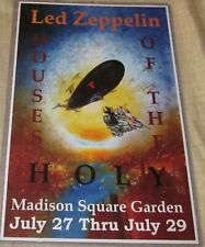 LED ZEPPELIN 1973 MSG HOUSE OF THE HOLY REPLICA CONCERT POSTER W/ SLEEVE