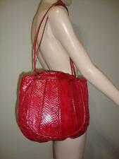 Judith Leiber Genuine RED Snakeskin Python Handbag Tote Exotic Hobo Shoulder Bag