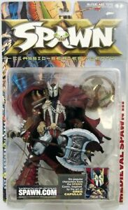 MEDIEVAL SPAWN FIGURE PLUS FREE GOLD EDITION HTF PILOT SPAWN AND MOVIE SPAWN