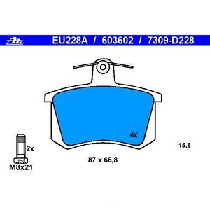 Disc Brake Pad Set-Original Disc Brake Pads Rear ATE 603602