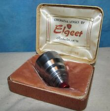 Vintage ELGEET Movie Camera Lens 2 1/2 For B&H Bell & Howell J00524