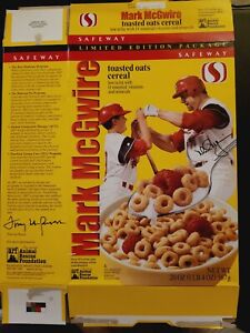 MARK MCGWIRE TOASTED OATS CEREAL BOX ST. LOUIS CARDINALS