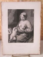 Vintage Print,DAUGHTER OF JERUSALEM,Bible,Virtue,c1860