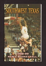 Southwest Texas State Bobcats--1998-99 Basketball Pocket Schedule