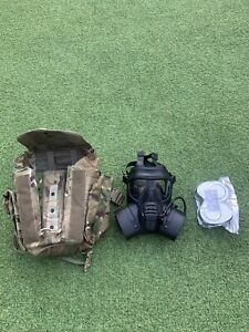 SCOTT RESPIRATOR, GAS MASK GSR SIZE 3 WITH FILTERS , Good Used Condition