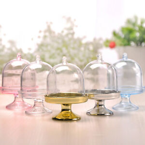 12 Pcs Mini Cake Display Stand Cupcake Holder + Dome Cover Wedding Party Decor