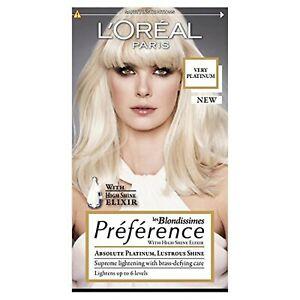 L'Oréal Preference Platinum Very Light Blonde 6L Hair Dye