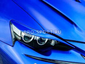 Lexus IS 3 2013 2014 2015 2016 eyebrows eyelids cilia front headlights pair
