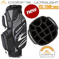 Cobra Ultralight Golf Cart Bag (5.3lbs) 14-WAY Top Black/Silver - NEW! 2020