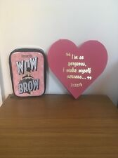 Benefit Make Up Bag & Limited Edition Pink Heart Mirror