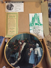 "Wizard of Oz Hamilton Plate Collection ""If I Were King of the Forest� with Coa"