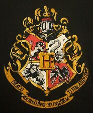 HARRY POTTER Hogwarts School of Witchcraft XL tee Dragon Shield crest T shirt
