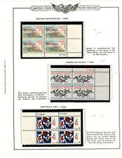 US plate blocks  1248-1259