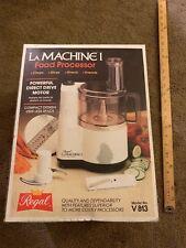 Regal V813 La Machine I Compact Food Processor Vintage New w/Original Box Almond