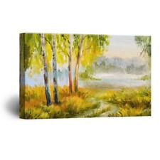 Wall26 - Abstract Oilpainting Style Forest Gallery - CVS - 12x18 inches