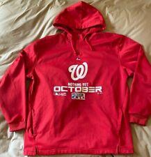 Majestic Washington Nationals MLB Playoffs Hooded Sweatshirt Men's Size XXL Red