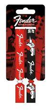 FENDER red/black 2014 - FESTIVAL WRISTBANDS SET official merchandise