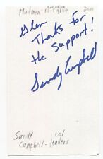 Mudmen - Sandy Campbell Signed 3x5 Index Card Autographed Signature Band