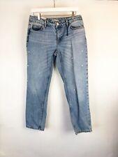 ZARA Jeans Size 6 with Studs diamonds