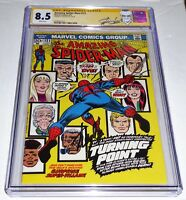 "Amazing Spider-Man #121 CGC Signature Autograph STAN LEE ""Death"" Gwen Stacy GG"