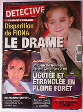 DETECTIVE du 22/05/2013; Disparition de Fiona/ Dans le restaurant du cannibale