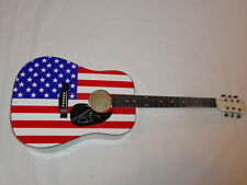 New listing Lee Brice Signed Full-Size Usa Flag Acoustic Guitar Country Legend Autographed