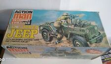 vintage original action man transport command WWII jeep With box 1980's