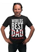 Worlds Best Dad Grandad Funny T Shirt Present Pregnancy Announcement Gift Idea