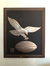 Rare NFL Philadelphia Eagles football copper plaque