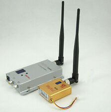 New Professional 1.2G 8CH 800mw Wireless AV Transmitter And Receiver For FPV H