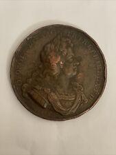 More details for rare 1715 jacobite rebels medal king george i preston ef/vg+