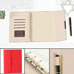 Binder Notebook Pu Leather Notepad Folder A5 Diary Weekly Planner Agenda Planner