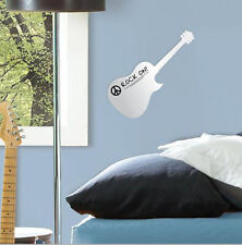 GUITAR mirrored wall sticker 1 big decal light weight acrylic mirror DRY ERASE