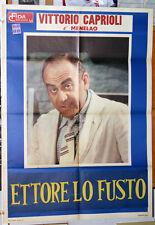 Vittorio Caprioli ETTORE LO FUSTO manifesto 2F originale 1972