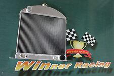 56mm aluminum custom radiator for Ford model A chopped w/Chevy engine 1928-1931