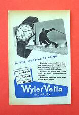 D234 - Advertising Pubblicità - 1953 - WYLER VETTA OROLOGIO INCAFLEX