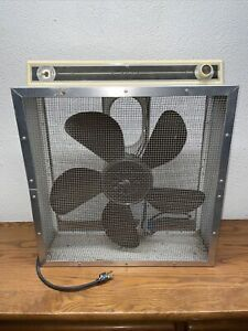 """Vintage SEARS Roebuck & Co. 24"""" Box Fan W/Thermostat"""