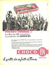 Publicité advertising 028 1959 choco bn chocolate biscuits gouer