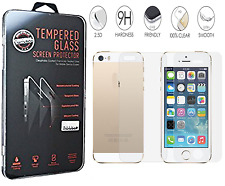"Ultra Clear Front + Back Tempered Glass Screen Protector For iPhone 6 6G 4.7"" UK"