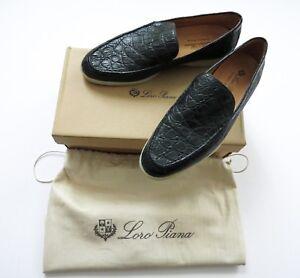 $6450 LORO PIANA Summer Walk Dyed Crocodile Leather Shoes 45 EU 11.5 US 10.5 UK