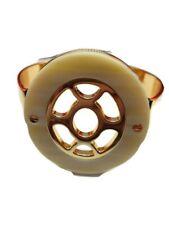 Cabi Helios Cuff Bracelet gold tone cream and gold tone