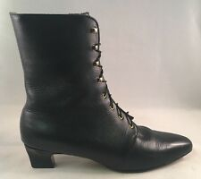 Auditions Martina Black Leather Boots Women's Size 11 Narrow