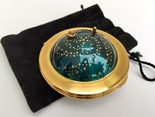 -RARE- VINTAGE 1950s MUSICAL KIGU FLYING SAUCER UFO ENAMEL POWDER COMPACT BOX