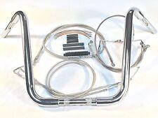 """1 1/4"""" Chrome 14"""" Ape Hanger Handlebar bar Kit 2002-2006 Harley Road King Glide"""