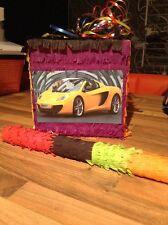 Sports Car Pinata Sweets Party & Stick Ferrari Lamborghini Maserati Personalised