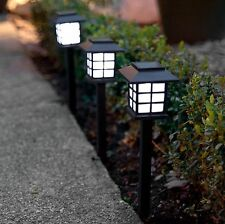 12 x Garden Post Solar Power Carriage Light LED Outdoor Lighting Black Ornament