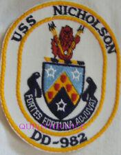 PUS447 - US NAVY USS NICHOLSON DD-982 PATCH