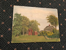 Antique Folk Art Primitive Naive Painting